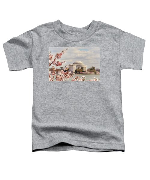 Cherry Blossom And Jefferson Toddler T-Shirt