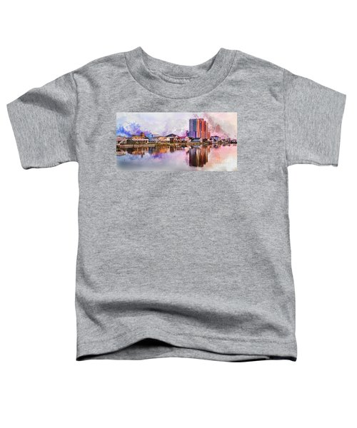 Cherry Grove Skyline - Digital Watercolor Toddler T-Shirt