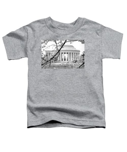 Cherry Tree And Jefferson Memorial Elegance  Toddler T-Shirt