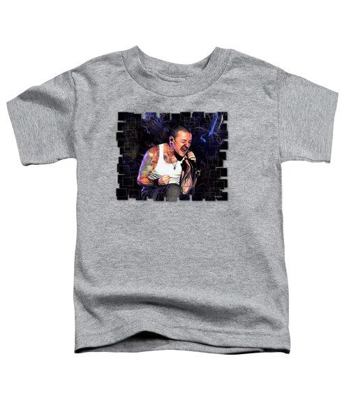 Chester Bennington Abstract Cut  Toddler T-Shirt
