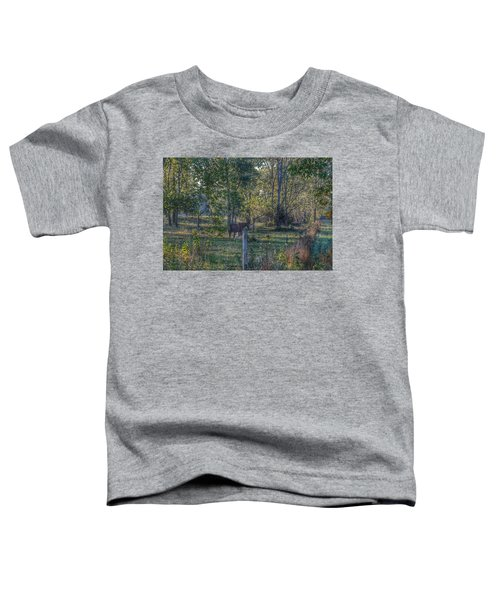 1009 - Chestnut Horse Among The Trees Toddler T-Shirt
