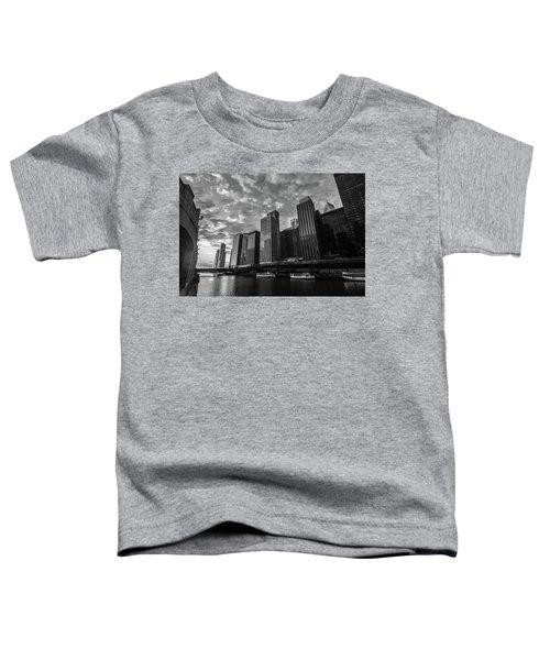 Chi Sunrise Black And White Toddler T-Shirt