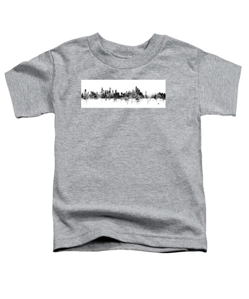 Chicago And New York City Skylines Mashup Toddler T-Shirt