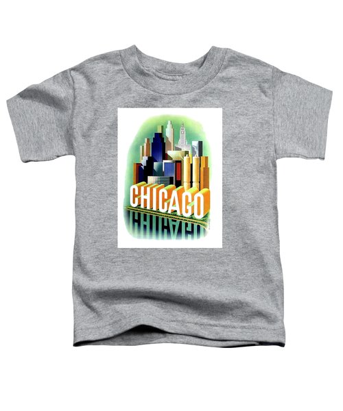 Chicago, Big City, Skyscrapers, Travel Poster Toddler T-Shirt