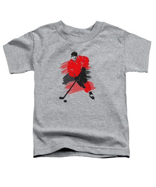 Chicago Blackhawks Player Shirt Toddler T-Shirt by Joe Hamilton