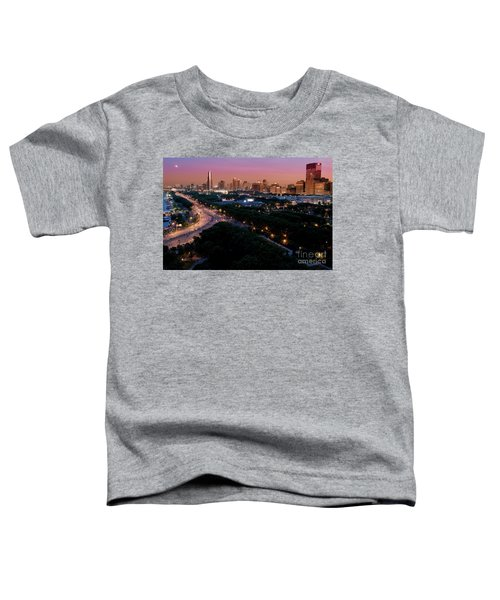 Chicago Independence Day At Night Toddler T-Shirt