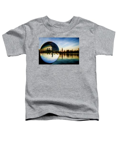 Chicago Skyline Though A Glass Ball Toddler T-Shirt