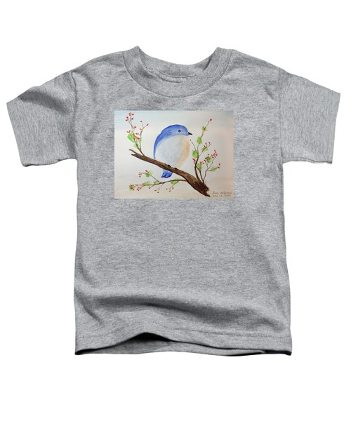Chickadee On A Branch With Leaves Toddler T-Shirt