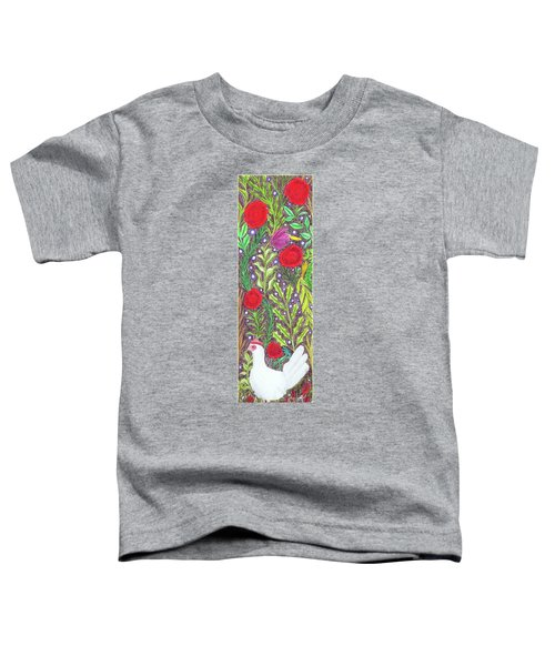 Chicken With An Attitude In Vegetation Toddler T-Shirt