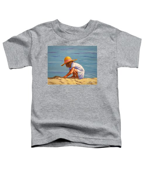 Child Playing In The Sand Toddler T-Shirt