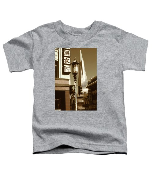 Chinatown San Francisco - Vintage Photo Art Toddler T-Shirt