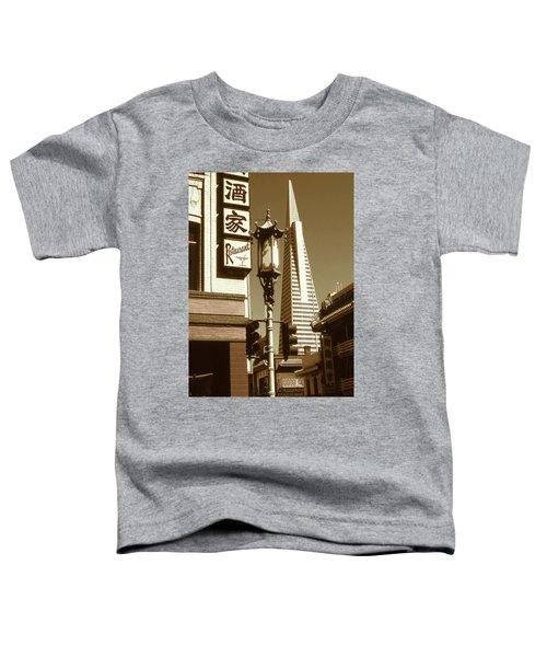 Chinatown San Francisco - Vintage Photo Art Toddler T-Shirt