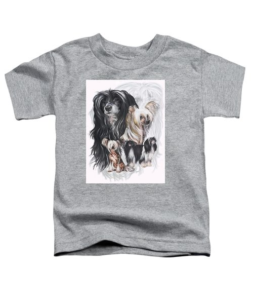 Chinese Crested And Powderpuff Medley Toddler T-Shirt