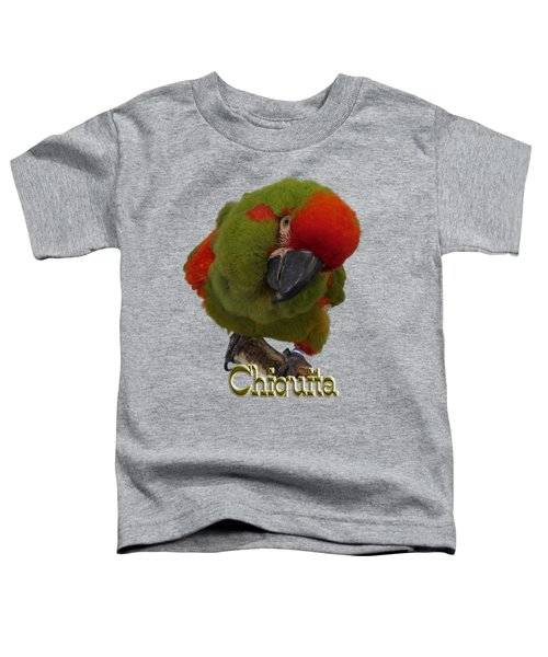 Chiquita, A Red-front Macaw Toddler T-Shirt by Zazu's House Parrot Sanctuary