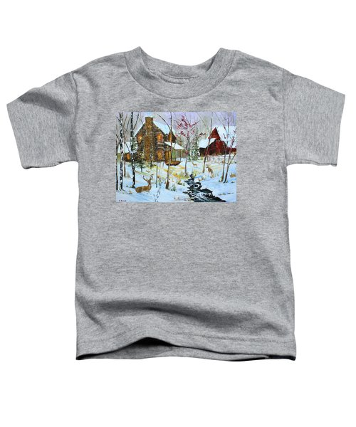 Christmas Cabin Toddler T-Shirt