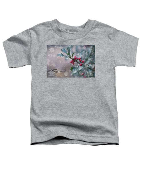 Christmas Holly Toddler T-Shirt