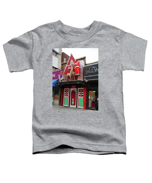 Christmas On Sherman Avenue  Toddler T-Shirt by Cole Thompson