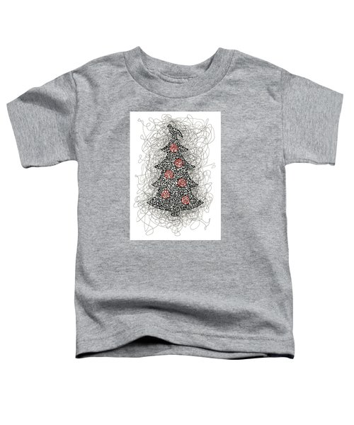 Christmas Tree Pen And Ink Drawing Toddler T-Shirt