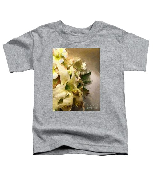 Christmas White Flowers Toddler T-Shirt