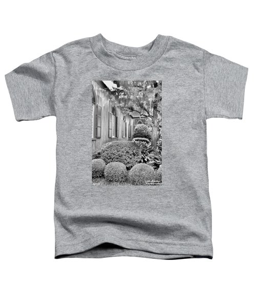 Church Of The Cross Bluffton Sc Black And White Toddler T-Shirt