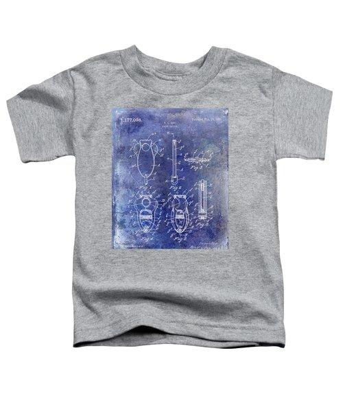 Cigar Cutter Patent 1916 Blue Toddler T-Shirt