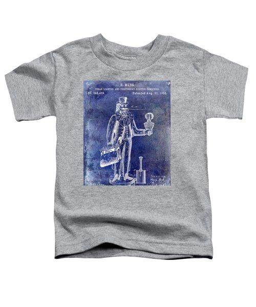 Cigar Lighter Patent 1886 Blue Toddler T-Shirt