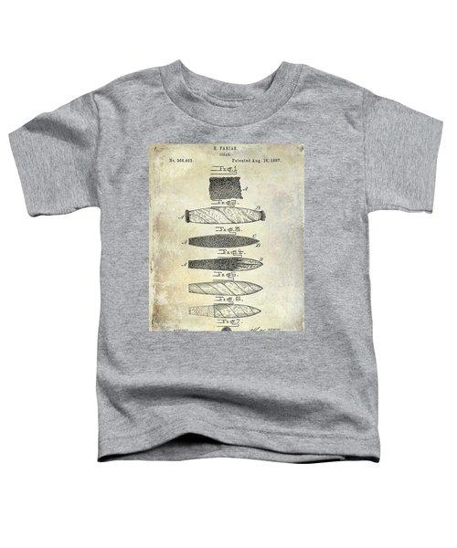 Cigar Patent 1887  Toddler T-Shirt
