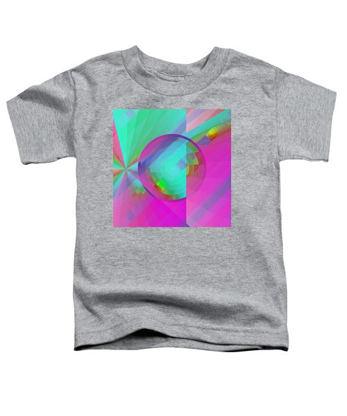 Toddler T-Shirt featuring the digital art Circus Multiforms Bright by Joy McKenzie