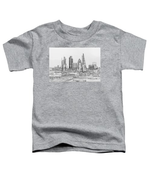 City Of London Outline Poster Bw Toddler T-Shirt