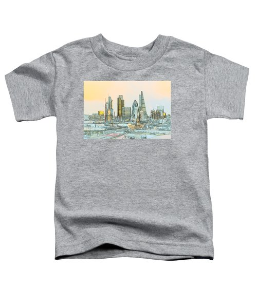 City Of London Outline Poster  Toddler T-Shirt