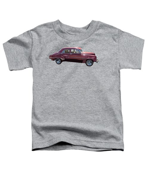 Classic Car Art In Red Toddler T-Shirt
