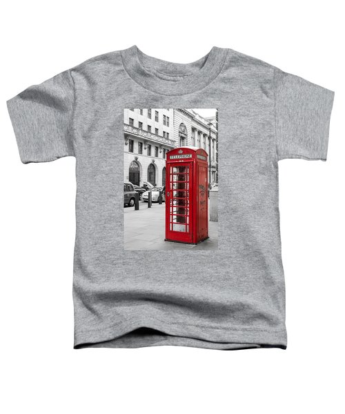 Red Telephone Box In London England Toddler T-Shirt