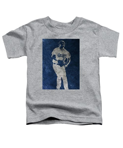 Clayton Kershaw Los Angeles Dodgers Art Toddler T-Shirt