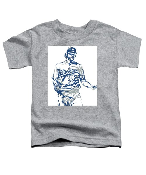 Clayton Kershaw Los Angeles Dodgers Pixel Art 10 Toddler T-Shirt