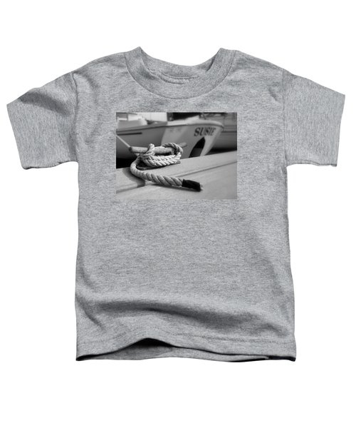 Cleat Hitch Boat Art Toddler T-Shirt