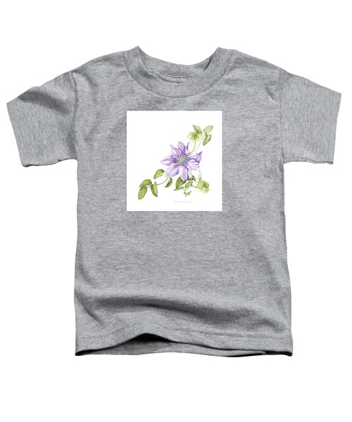 Clematis Cezanne Toddler T-Shirt