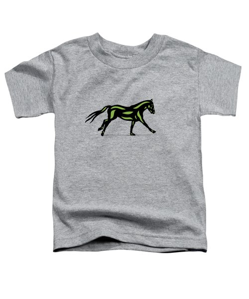 Clementine - Pop Art Horse - Black, Geenery, Hazelnut Toddler T-Shirt