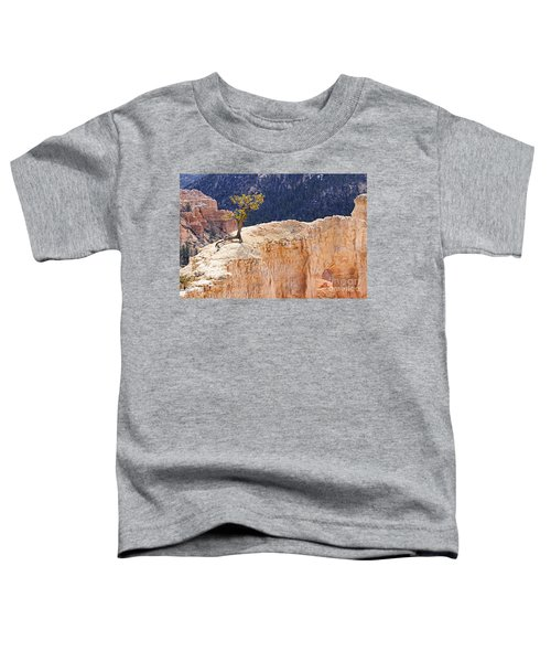Clinging To The Top Of The Wall Toddler T-Shirt