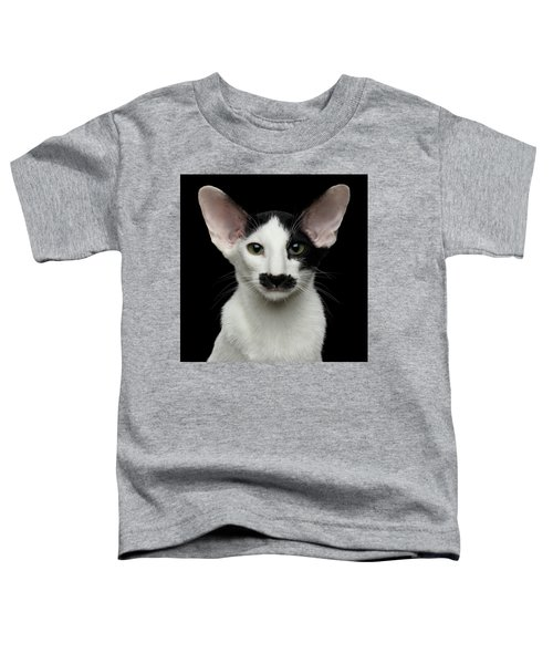 Closeup Funny Oriental Shorthair Looking At Camera Isolated, Bla Toddler T-Shirt