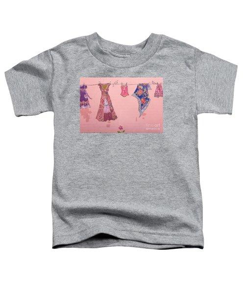 Clothes Line Mural Burlington Vermont Toddler T-Shirt