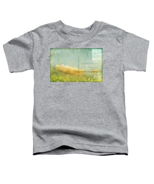 Cloud And Sky On Postcard Toddler T-Shirt
