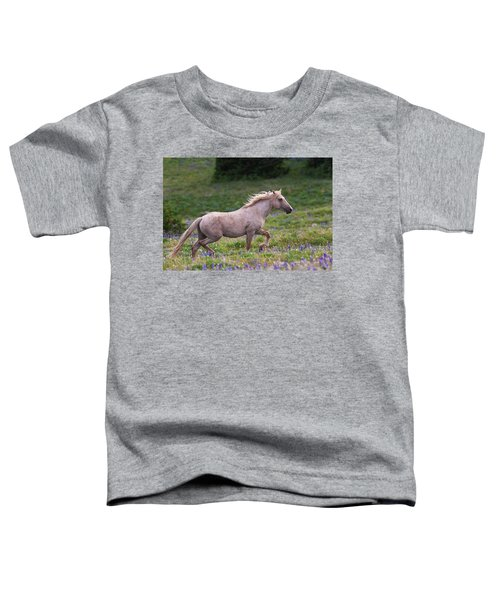 Cloud- Wild Stallion Of The West Toddler T-Shirt