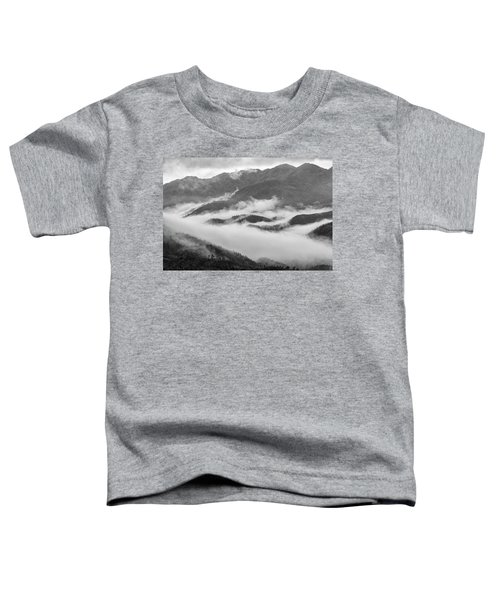 Toddler T-Shirt featuring the photograph Clouds In Valley, Sa Pa, 2014 by Hitendra SINKAR