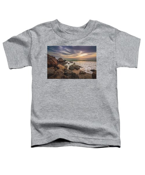 Cloudy Point Dume Sunset Toddler T-Shirt