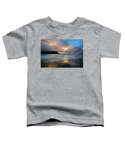 Cloudy Sunset At Hanalei Bay Toddler T-Shirt