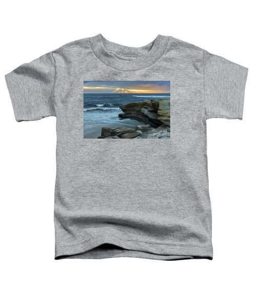 Cloudy Sunset At La Jolla Shores Beach Toddler T-Shirt