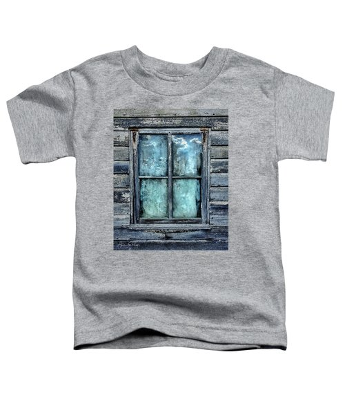 Toddler T-Shirt featuring the photograph Cloudy Window by Andrea Platt