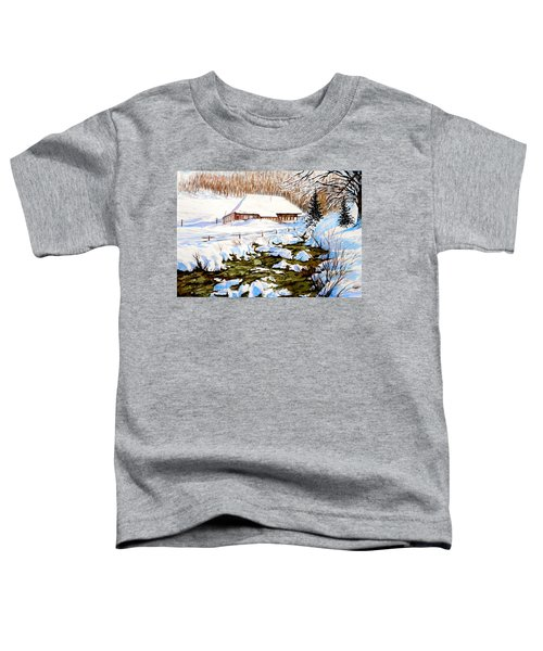 Clubhouse In Winter Toddler T-Shirt