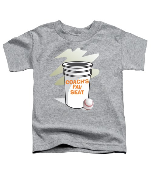 Coach's Favorite Seat Toddler T-Shirt by Jerry Watkins