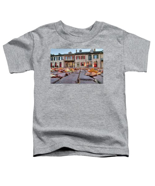 Cobblestone And Leaves Toddler T-Shirt